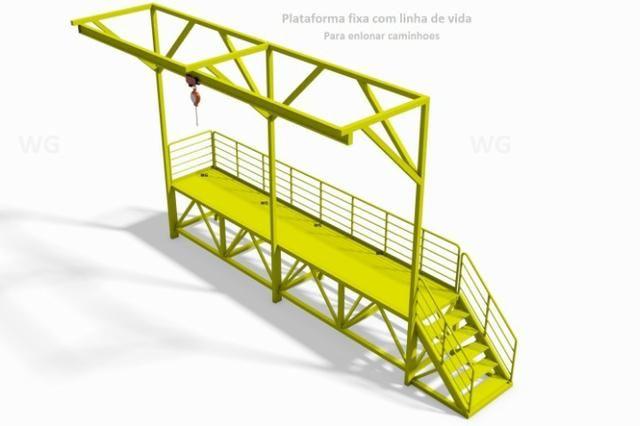 847b218f08f98 Plataforma para carregar e enlonar caminhoes com linha de vida ou ...