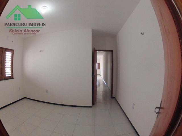 Ampla casa nova de três quartos financiada em Paracuru - Foto 12