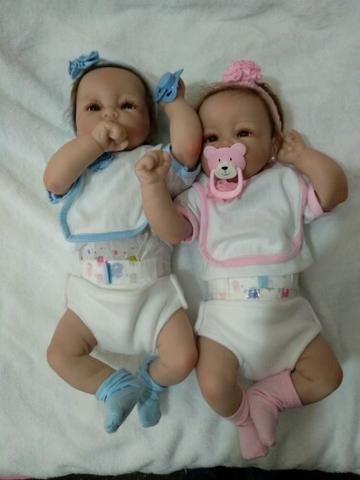 Boneca Realista Reborn Silicone Recém-nascido - Unidade - Foto 3