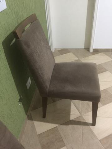Cadeira em suede amassado - Foto 2
