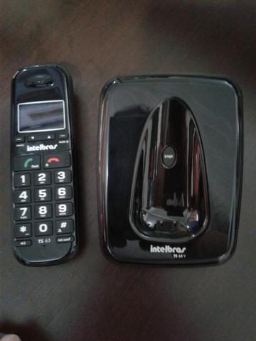 TS 63 V - Telefone Sem Fio Preto - Foto 2