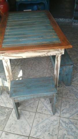 Linda mesa rústica - Foto 4