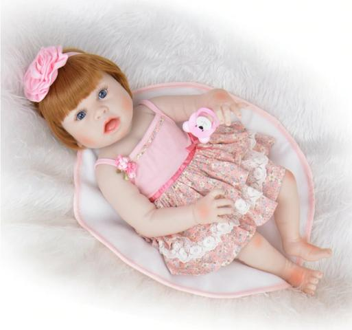 Pronta Entrega Boneca Bebê Reborn Ruiva 57cm - Foto 5