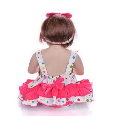 Boneca bebê Reborn Realista Silicone 57cm - Foto 5