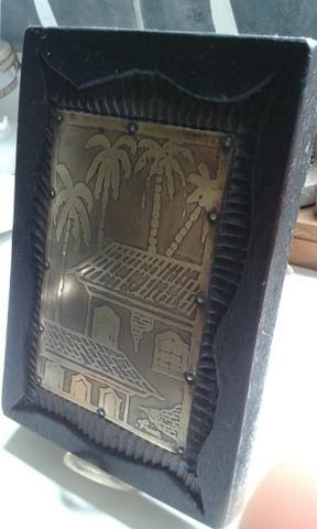 Jacarandá desenho em metal dourado - Foto 2