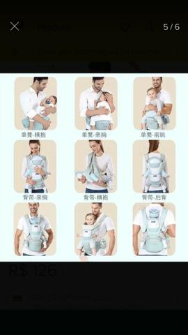 Canguru ergonômico e Moisés de bebê