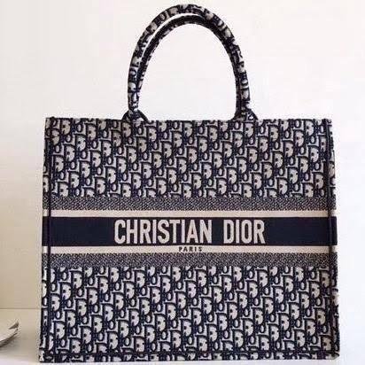 Bolsa Book Tote Praia Bordada Christian Dior novo - Foto 2