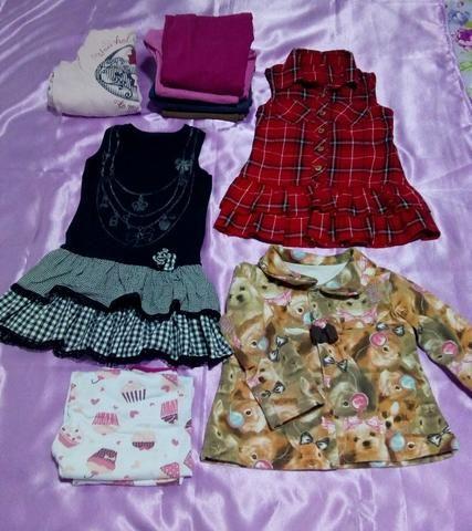 Lotinho de roupa menina 2/3 anos - Foto 2