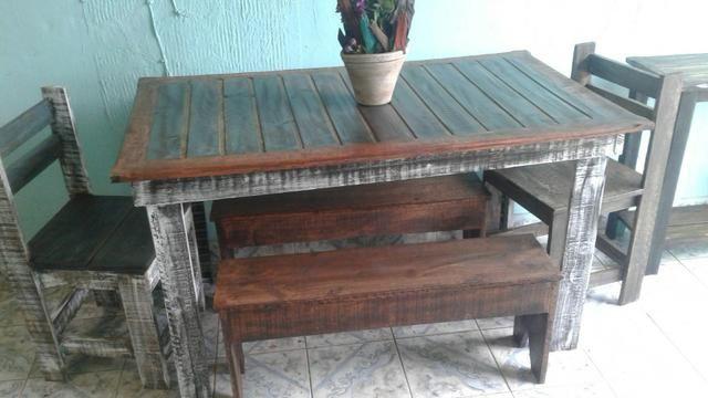 Linda mesa rústica - Foto 2