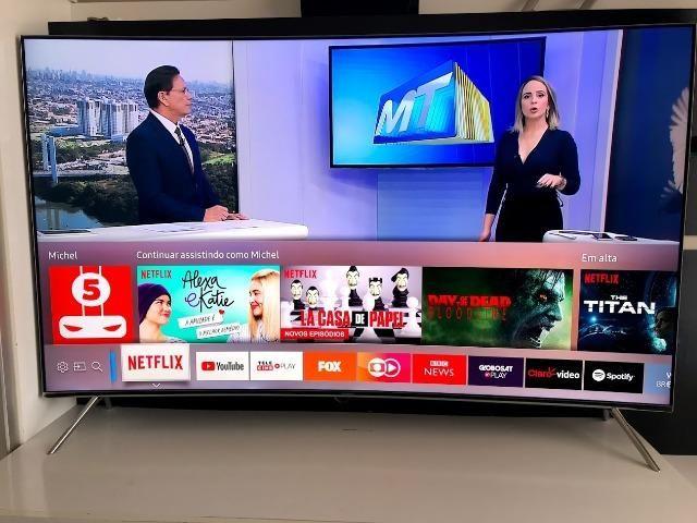 Premium TV - SmartTv 55? SUHD 4K Hdr Premium Tela Curva Samsung