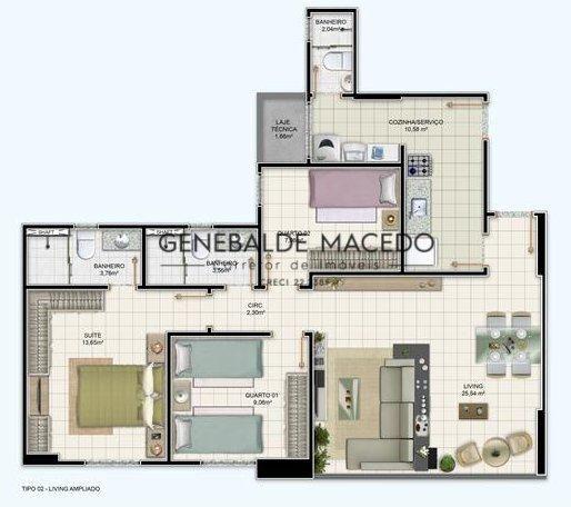 Apartamento, Santa Mônica, Feira de Santana-BA - Foto 4