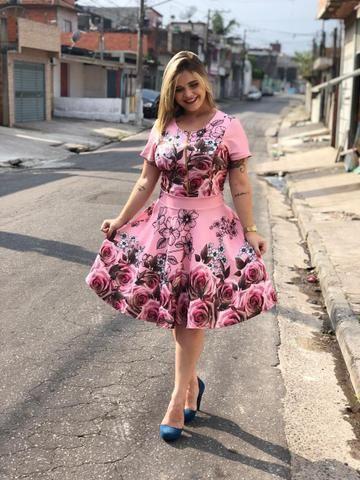 5bd196025e7b Vestido Evangélico Midi Gode Social Feminino Casual blogueira ...