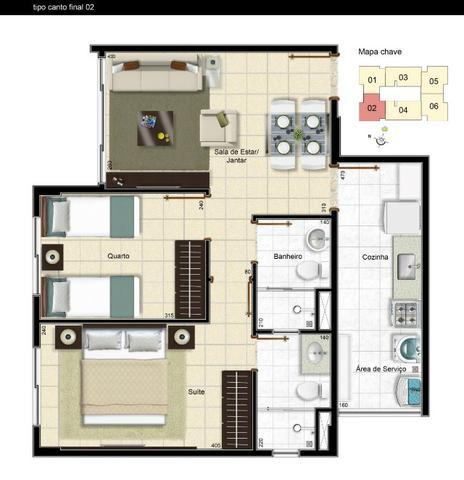 Residencial porto belo lindo apartamento de 2 quartos na samambaia use seu fgts na entrada - Foto 10