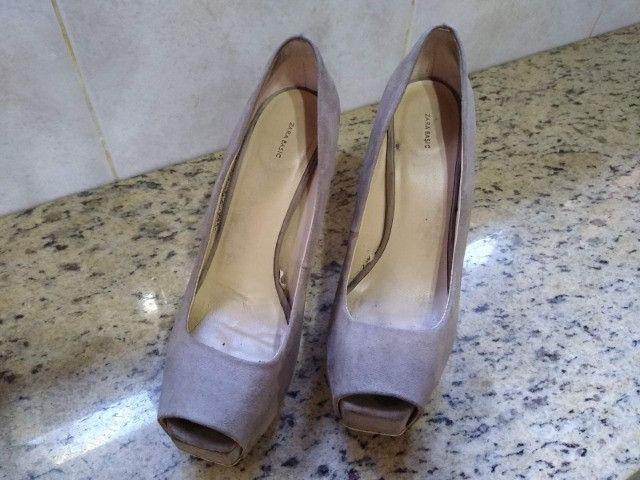 Sandália Salto Zara Basic - Foto 6