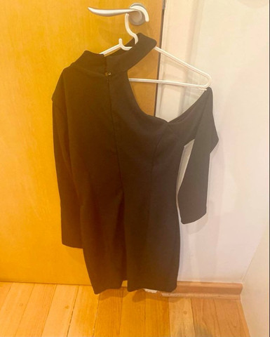 Vestido preto assimétrico M novo - Foto 2