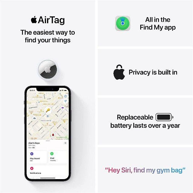 Airtag Apple Rastreador Original Lançamento- Pacote c/ 4  - Foto 6