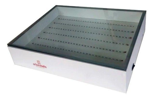 Mesa Led Uv Serigrafia 110/220 - Com vidro! - Foto 2
