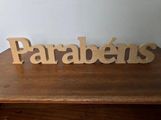 Letreiro PARABÉNS