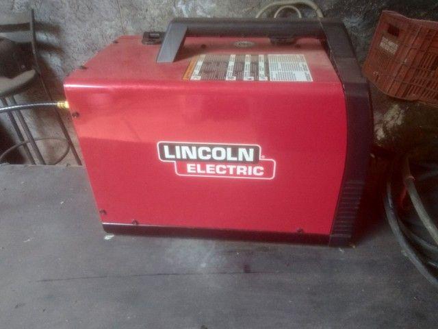 Mig 180 Lincoln, compressor e garrafa mistura pra mig