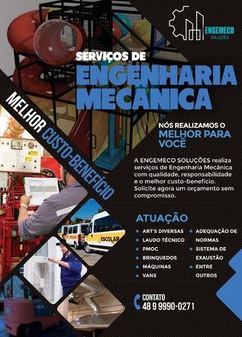 Engenheiro Mecânico p/ Laudos com ART's - Florianópolis e Região - condições especiais