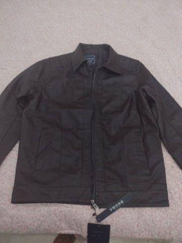 Uma jaqueta de couro legítimo  - Foto 6