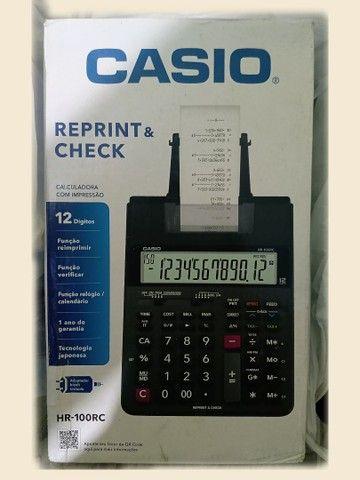 Calculadora c/impressão Casio HR -100  - Foto 2