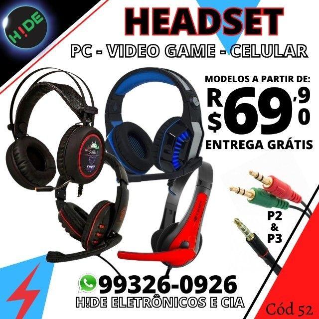 Headset Pc Game e Cel (entrega grátis)