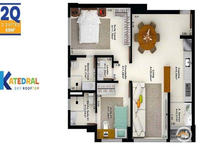 Apartamento à venda com 2 dormitórios em Setor central, Goiânia cod:5370 - Foto 5