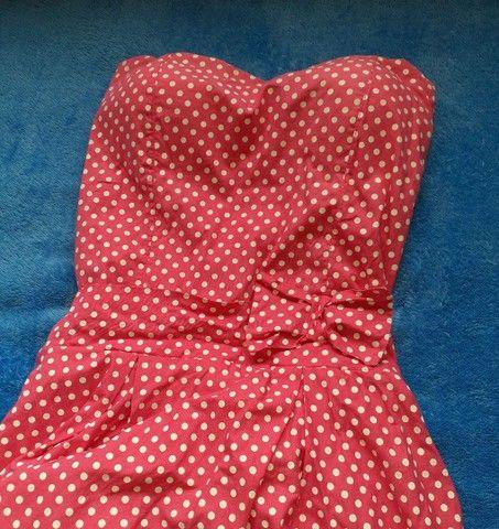 Vestido Rosa de Bolinhas  - Foto 3