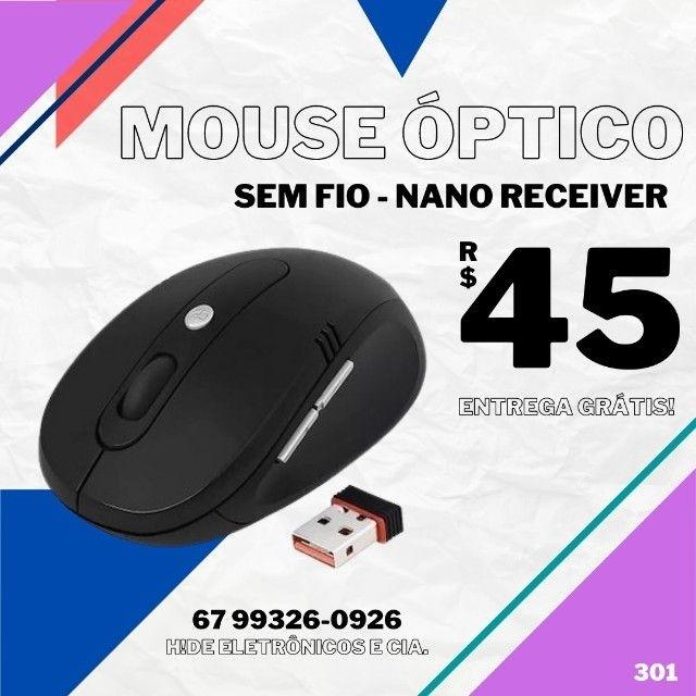 Mouse ópitico sem fio (entrega grátis)