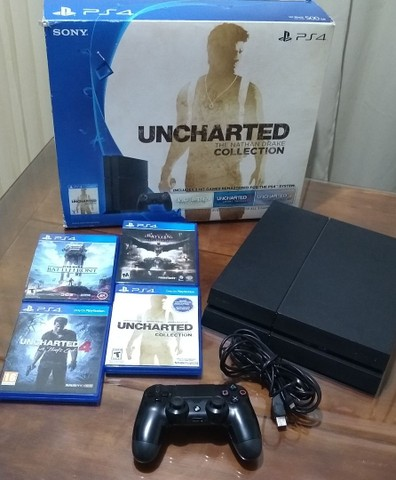 PlayStation 4 - 500GB - 4 jogos