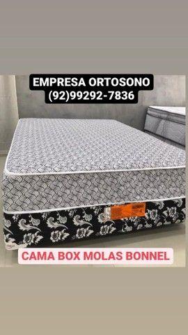 #CAMA BOX Molas BONNEL 2 TRAVESSEIRO