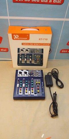 Mesa de som Bluetooth 4 canais  LE-708  -Entrega Grátis  - Foto 5