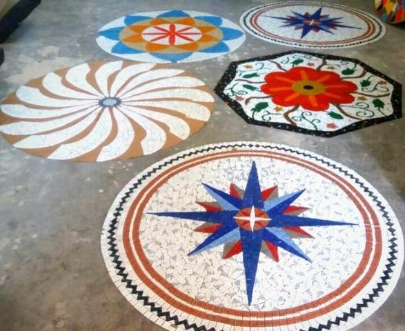 Piso Mosaico, acabamento, porcelanato, mosaico, mandala - Foto 3