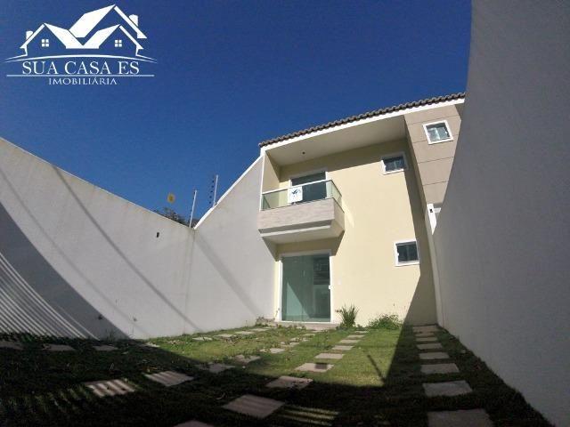 Casa Duplex 3 Quartos c/ Suíte em Manguinhos - Quintal Privativo - Serra - ES