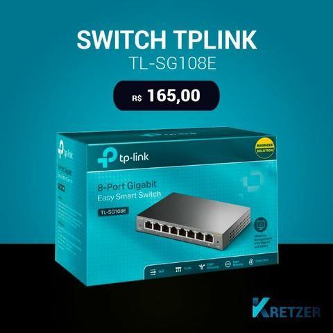 Switch de Mesa de 8 Portas 10/100/1000Mbps TL-SG108 (não aceito trocas) (Produto novoo)