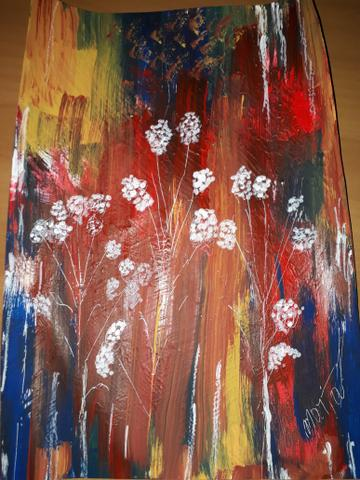 Quadro pintura acrílico