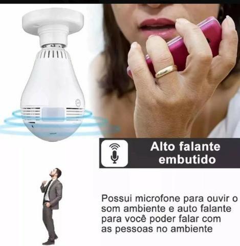 Câmera Segurança Lampada Espia Wifi - acompanhe imagens pelo celular - Foto 5