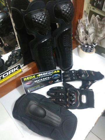 Kit proteção TITANIUM motociclista * zaap - Foto 5