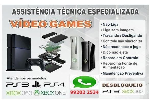 Consertamos Xbox 360-One-playstation 3 e 4