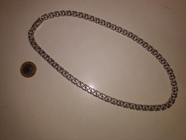 Cordão de Prata (elo raro) - Foto 2