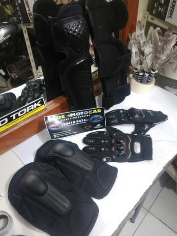 Kit proteção TITANIUM motociclista * zaap - Foto 4