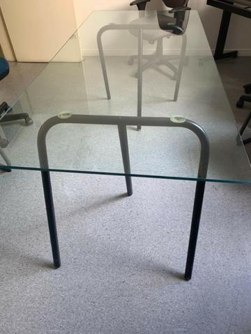 Mesa de vidro reuniões