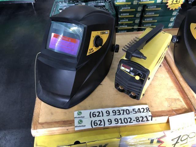 617549f048745 Máquina de Solda Inversora Kab 180 + Máscara SuperTork Escurecimento  Automático