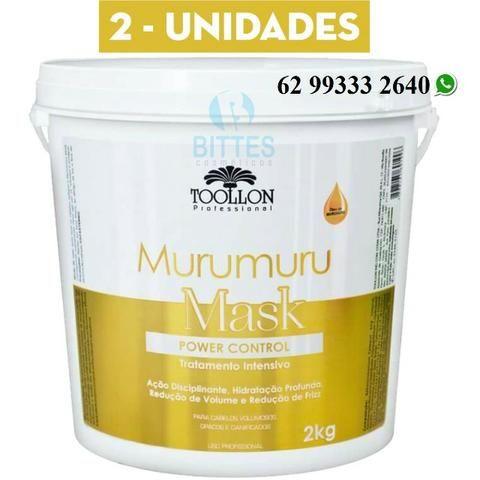 2 Pote de Murumuru Mask Hidratação Reconstrução, Cauterização Toollon Cosméticos