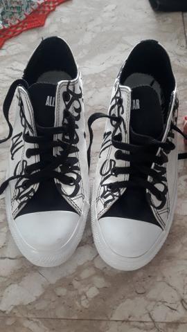 b289e1e549 Tênis all star n 34 customizado semi novo - Roupas e calçados ...
