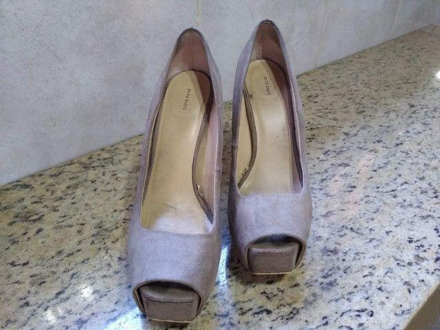 Sandália Salto Zara Basic - Foto 5