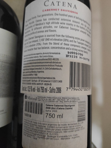 Vinho catena Zapata 2006 - Foto 3