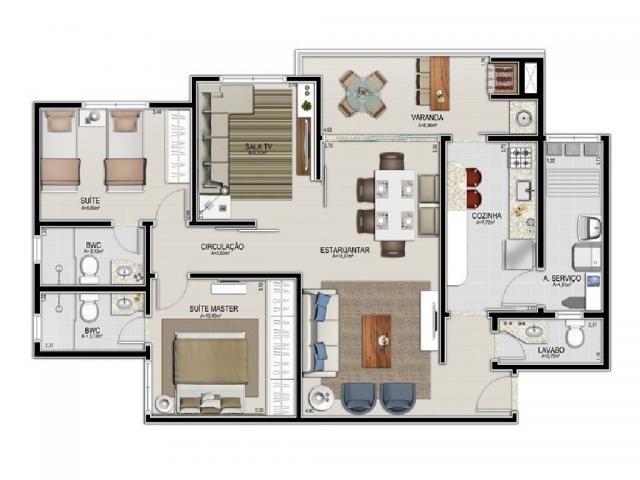 Apartamento à venda com 3 dormitórios em Jardim bom clima, Cuiaba cod:20355 - Foto 3