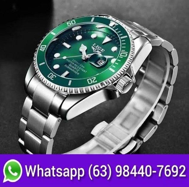 Relógio Masculino Lige 10045 Luxo Original Top Super Oferta